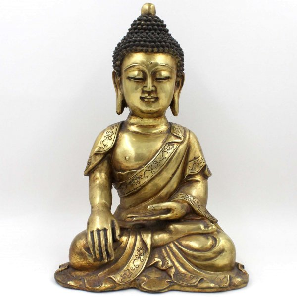 Shakyamuni Buddha Figur (43cm) Bronze Siddharta