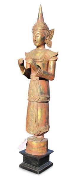 Stehender Tempelwächter aus Holz