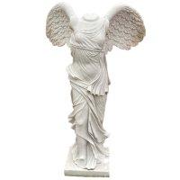 Siegesgöttin Nike von Samothrake (120cm) Garten Statue Marmor Stein
