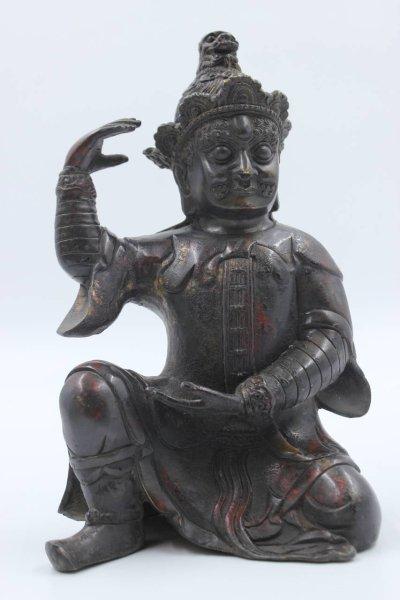 Chinesischer Tempelwächter aus Bronze