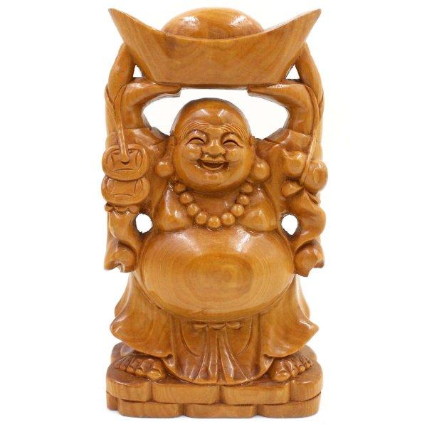 Stehender Hotai Buddha (23cm) Holz Figur