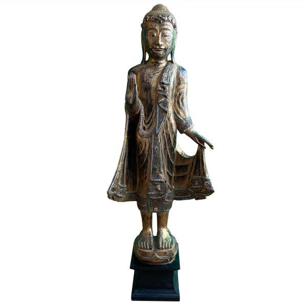 Wochentags Holz Buddha 'Montag' (117cm) aus Thailand