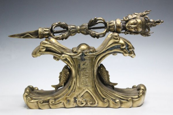 Phurpa/Zepter aus Bronze gefertigt
