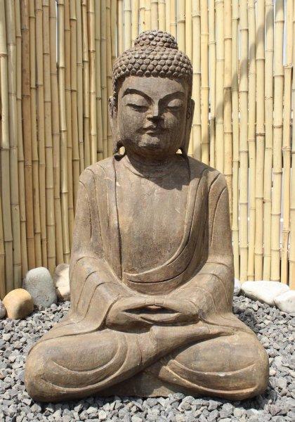 Garten Buddha Statue Amitabha aus Naturstein