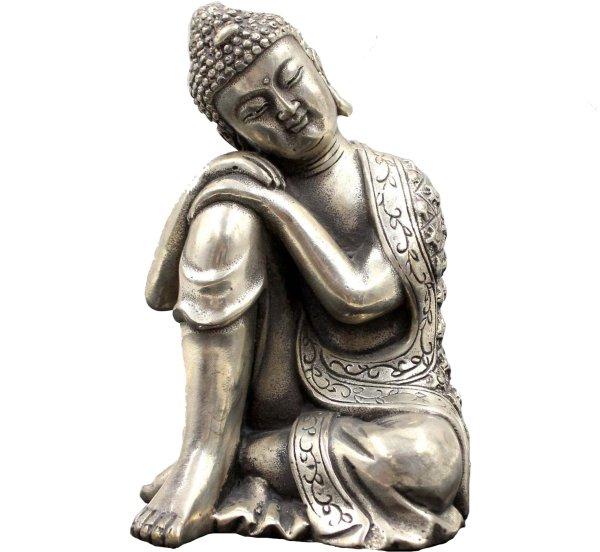 Ruhender Buddha Figur (13cm) Schlafender Bronze Siddharta