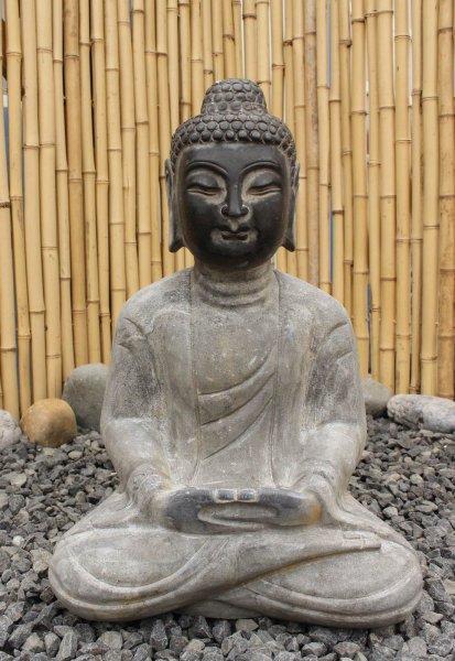 Garten Buddha - frostsicher - Meditations-Figur aus Naturstein