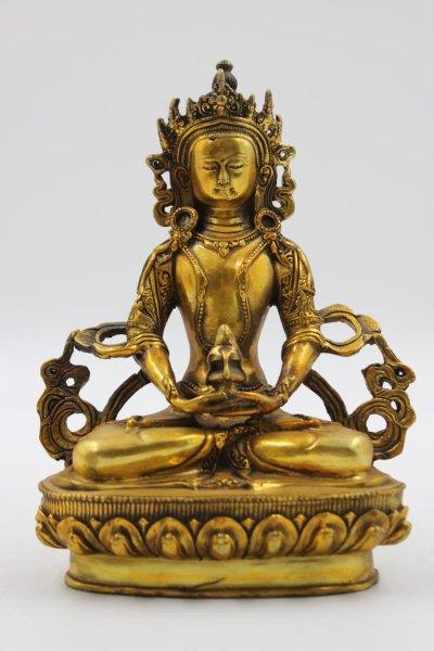Buddha Figur Amitayus aus Bronze