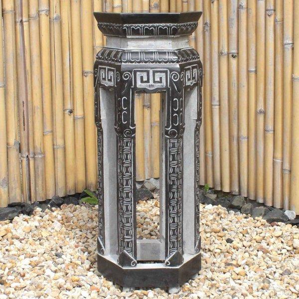 Asiatisches Naturstein Podest (99cm) Garten Stele