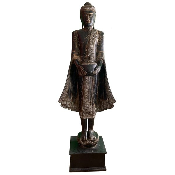 Wochentags Buddha Mittwoch (230cm) Holz Statue Thailand