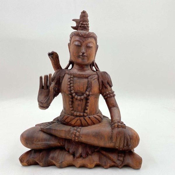 Hinduistische Shiva (31cm) Figur aus Holz