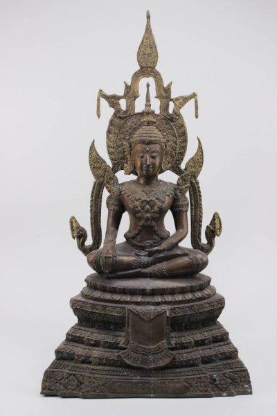 Siddharta Buddha Figur aus Bronze, Thailand - 70cm groß
