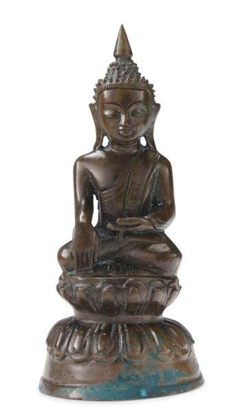 22cm Bronze Buddha Figur, Burma