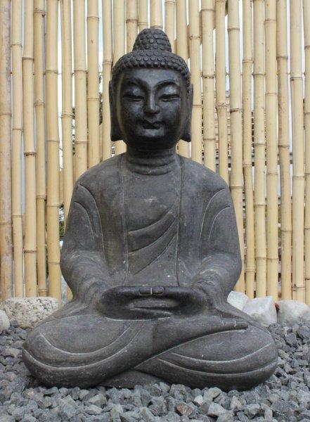 Stein Buddha Figur f. d. Asien Garten - 50 cm groß