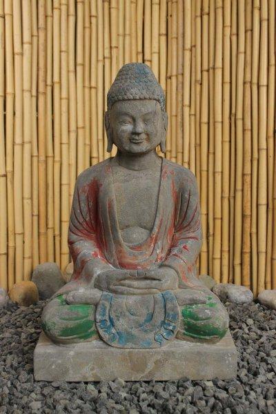 Naturstein Buddha mit Geste der Ausgeglichenheit