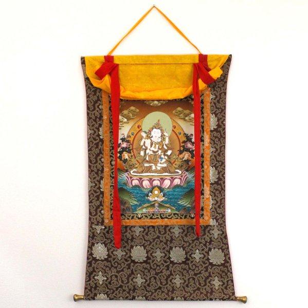 Vajrasattva & Yab Yum Thangka (116cm) Buddha Wandbild Nepal