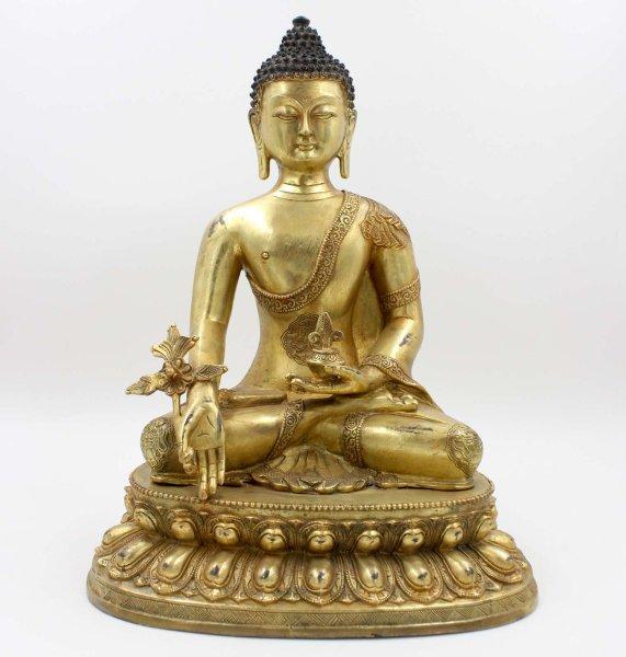 Medizin Buddha Figur (42,5cm) Bronze Statue
