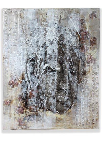 Buddha Kopf Acryl-Wandgemälde