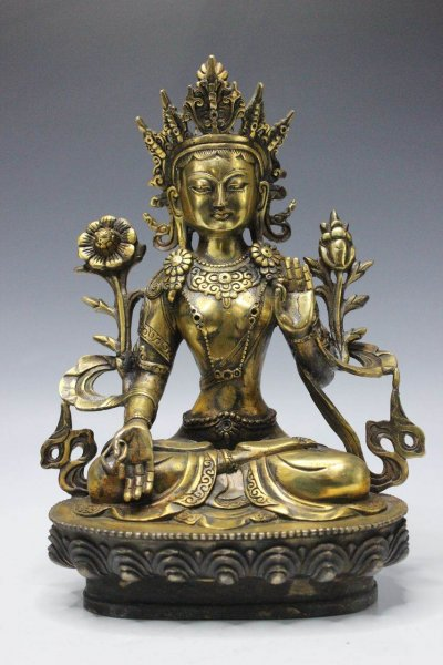 Weiße Tara Bronze - Buddha Figur