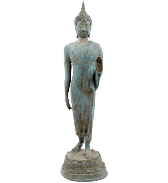 Walking Buddha (65,5cm) Sukhothai Thailand Figur