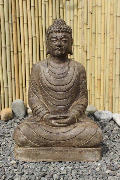 Garten Statue aus Naturstein - Buddha Amitabha
