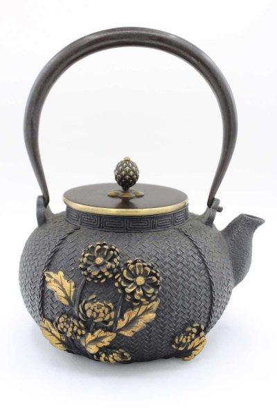 Blumen Gusseisen Teekanne (21cm) China Deko Kanne