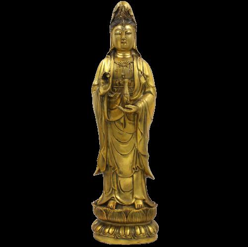 Bronze Kwan Yin Buddha Figur (35,5cm) Guanyin Statue