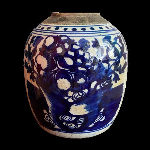 Chinesische Porzellan Vase Weiß Blau