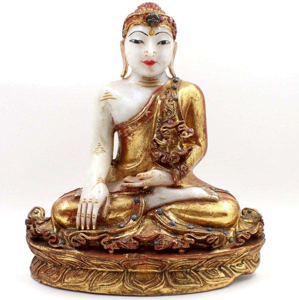 Marmor Siddharta Buddha Figur (38cm) Burma Statue