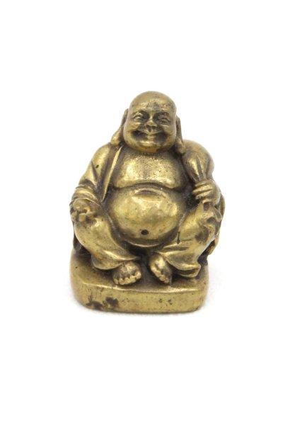 Kleine Hotai Buddha Figur aus Bronze