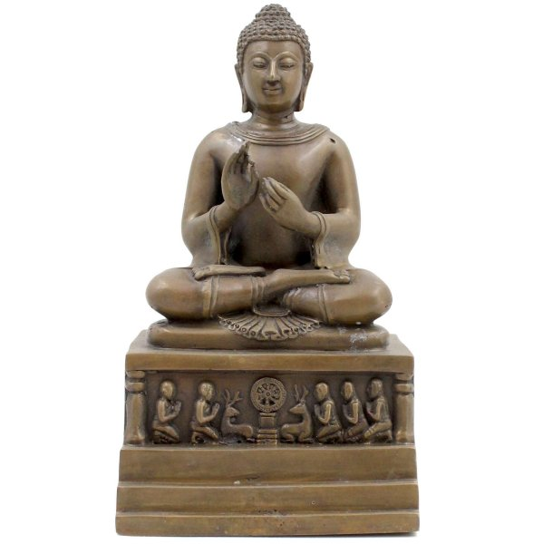 Dharmachakra Mudra Buddha (26cm) Bronze Figur
