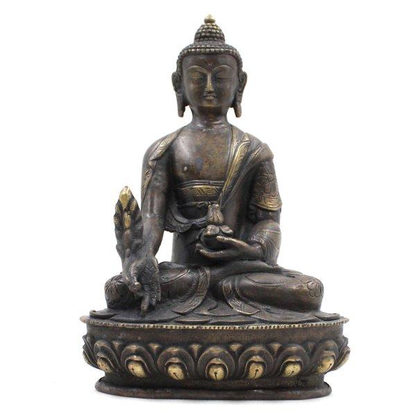 Bhaisajyaguru Medizin Buddha (20,5cm) Bronze Figur Indien