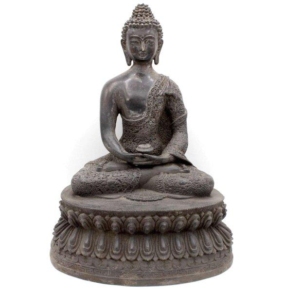 Amitabha auf Lotuspodest (34cm) Bronze Buddha China