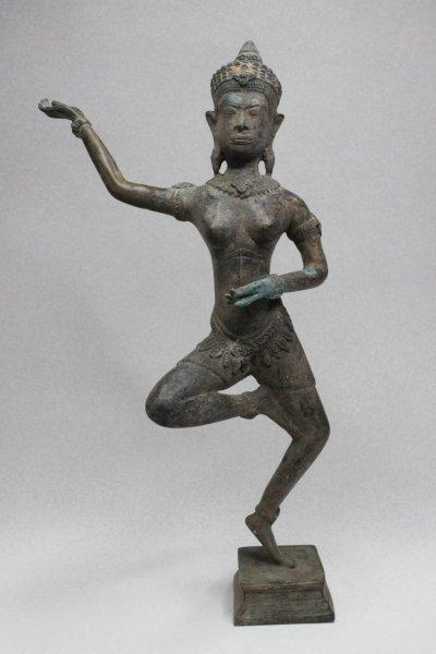 Apsara Figur aus Bronze, Tempeltänzerin - Thailand