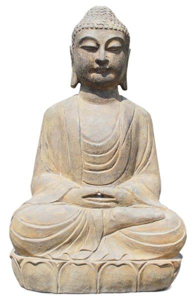 Garten Buddha Figur aus Naturstein