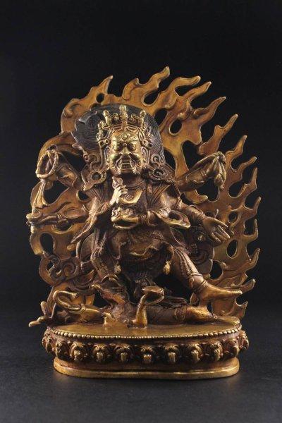 Mahakala Beschützer Bronze Figur
