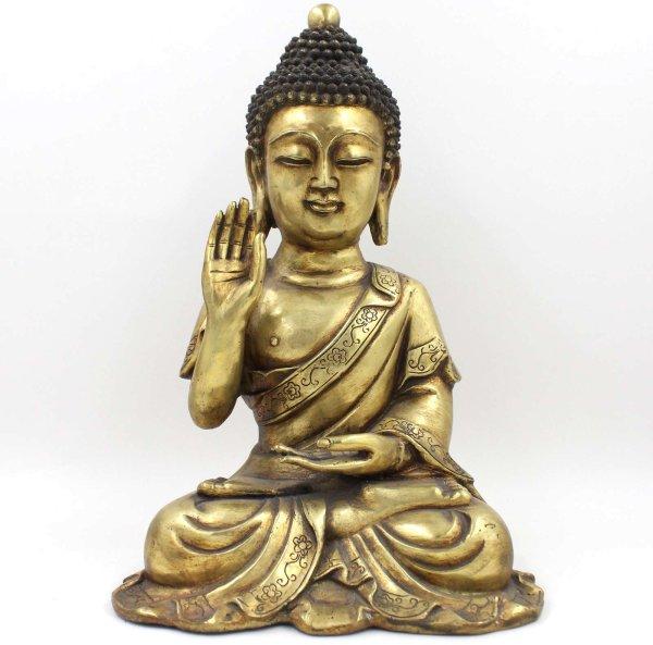 Amoghasiddhi Bronze Buddha Figur (43cm) Mit Schutzgeste