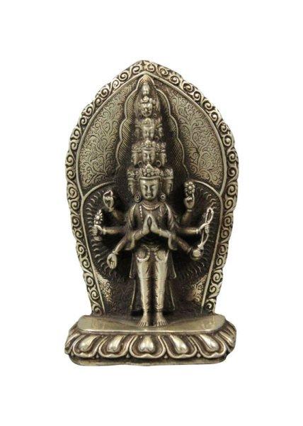 Chenrezi Avalokiteshvara Buddha Statue aus Bronze