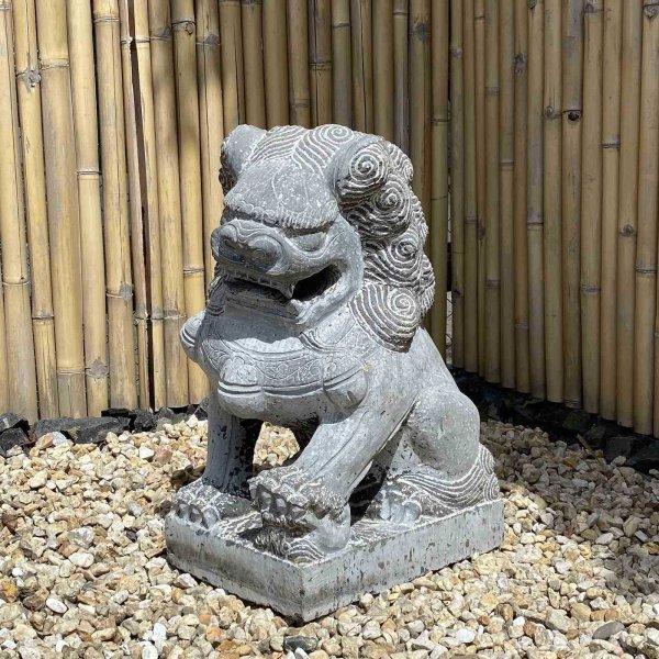 Chinesicher Wächterlöwe (73cm) Garten Naturstein Statue