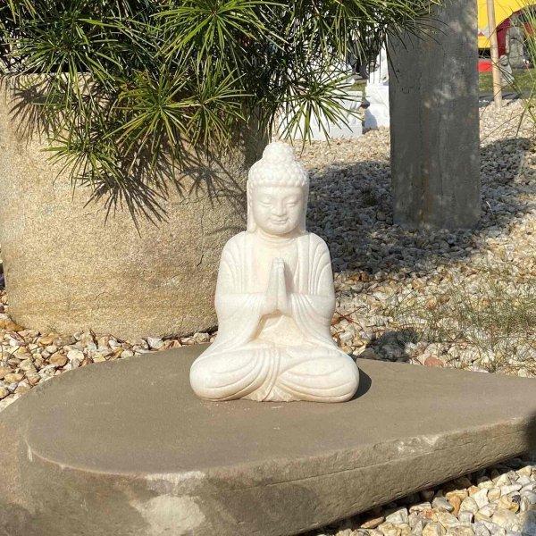 Namaste Buddha Figur (29cm) Garten Marmor Stein