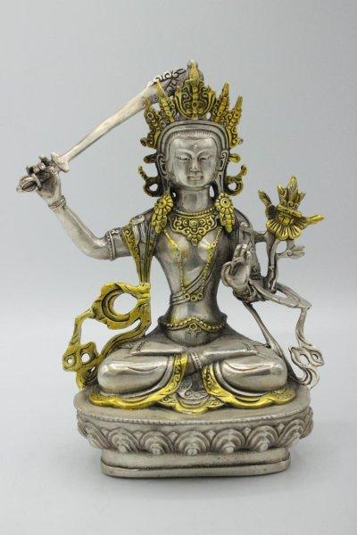 Manjushri (21cm) Buddha Figur aus Bronze