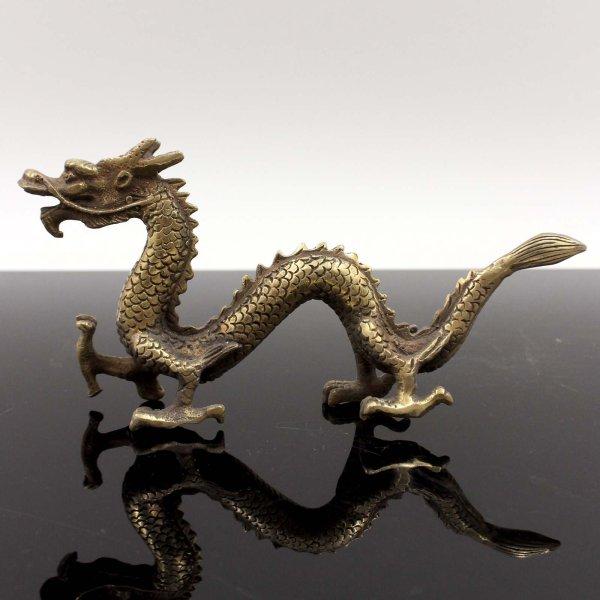 Chinesische Drachen Figur (18cm) Bronze Skulptur