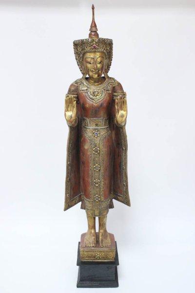 Mandalay Buddha in Antik-Orange