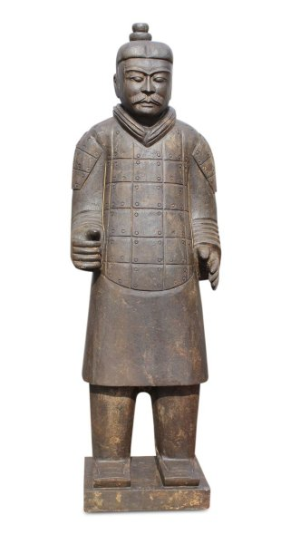 Chinesischer Terrakotta Krieger aus Naturstein