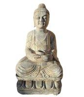 Alter Garten Buddha (75cm) Tibet Statue Naturstein