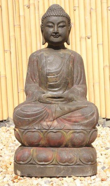 Garten Buddha Statue 81 cm groß - Unikat