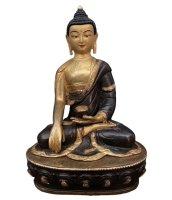 24 K Feuervergoldeter Siddharta Buddha (21cm) Bronze Figur