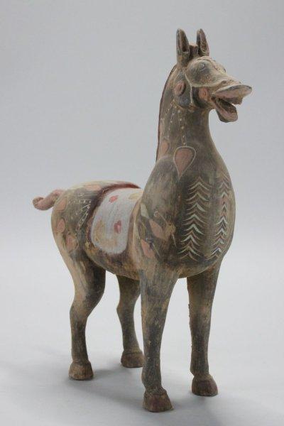 China Pferd - Tierfigur aus Ton
