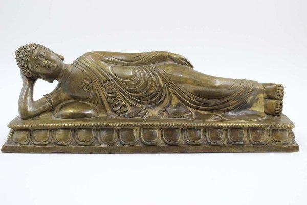 Nirvana Buddha Figur aus Bronze - Wochentag Dienstag