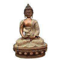 Amitabha Buddha Figur aus Bronze - Nepal 32,5cm groß