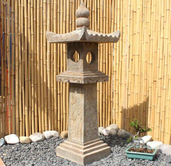 Chinesische Steinlaterne (105cm) Garten Geisterhaus
